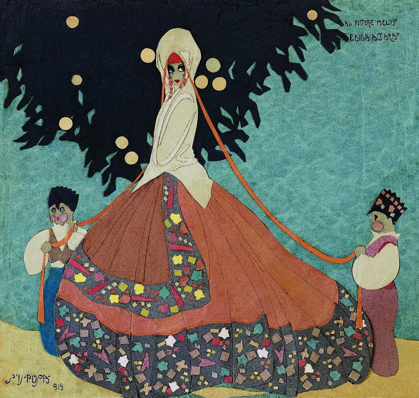 "Edina Altara, ""S'isposa"", collage, 1919"